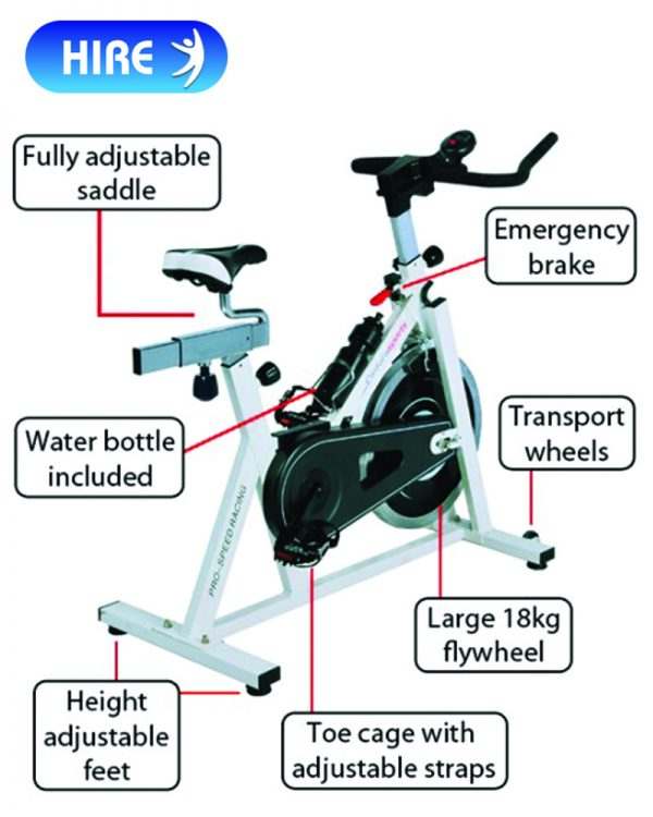 Cintura Sports Pro-Speed Spinning Racing Exercise Bike_b