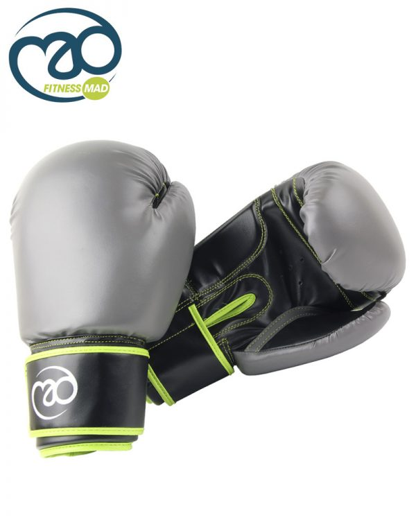 Grey_Green_Leather Sparring Gloves_A